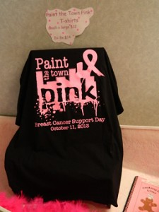PAINT THE TOWN PINK: Support the Paint the Town Pink campaign by buying a Breast Cancer Support Day T-shirt and wearing it Friday.