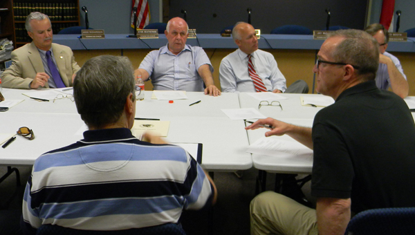 FILE PHOTO | DAILY NEWS JAIL TALK: An earlier version of the Beaufort County Jail Committee discusses the issue of building a new jail.