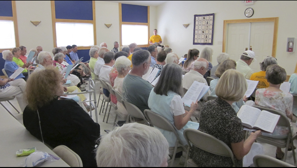 BEN KIFER IN UNISON: Last year, Grace Lutheran held its inaugural Old Tyme Hymn Sing, bringing members of the Christian community out to sing multidenominational hymns and enjoy food and fellowship.