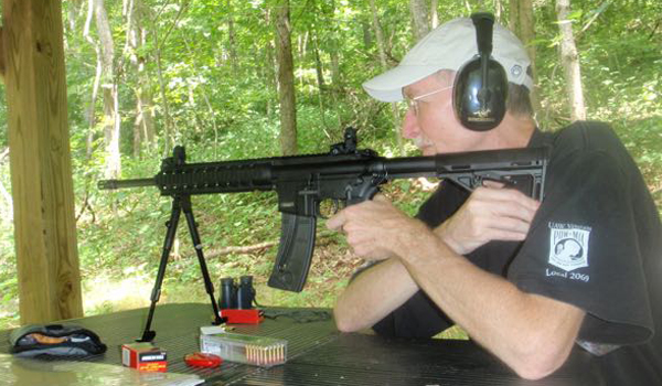 FRED BONNER | CONTRIBUTED STRAIGHT SHOOTER: This target shooter is shooting an AR-15 look-alike chambered for a .22 long rifle cartridge. Recent popularity in shooting these look-alike military weapons has helped to lead to a shortage of rimfire rifle ammunition.