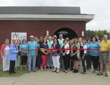 WASHINGTON-BEAUFORT CHAMBER OF COMMERCE INUAGURAL LAUNCH: Washington Assembly of God celebrated the launch of its new children's programs with a ribbon cutting, in partnership with the Washington-Beaufort Chamber of Commerce.